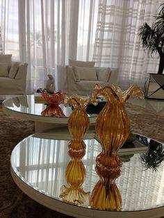 Adornos vasos de Murano.  @ligiaenicollearquitetura