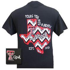 New Texas Tech Red Raiders Chevron State EST. 1923 Girlie Bright T Shirt