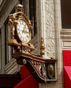 The fancy clock on the Macy's building, Downtown Pittsburgh