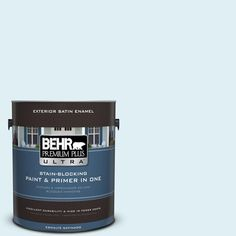 BEHR Premium Plus Ultra 1-gal. #M480-1 Helium Satin Enamel Exterior Paint