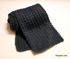 Learn to knit your first scarf! Pattern and video tutorial.