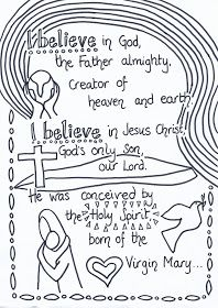 Flame Creative Children S Ministry Apostles Creed Reflective