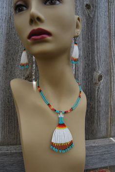 EXCLUSIVE Dentalium Spiritual Healing Boho by 1ofAKindByDesign, $80.00 Native Beadwork, Native American Beadwork, Native American Fashion, Native American Jewelry, Beaded Earrings, Beaded Jewelry, Handmade Jewelry, Beading Projects, Beading Ideas