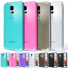 Transparent Frosted Cover Case for Samsung Galaxy S5 9600(Assorted Colors) – USD $ 2.99