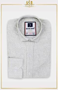 Shop Doctor Junior Boys Slim fit Floral Patterned Shirt in Grey Beige at SIRRI. An on trend long sleeve boys flower print cotton shirt that is a stylish addition to your young man's wardrobe Printed Cotton, Printed Shirts, Beige Shirt, Junior Year, Floral Print Shirt, Boys Suits, Grey And Beige, Men's Wardrobe, Shirt Style
