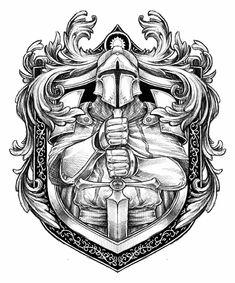 Ritter - Knights Ritter in Behance Schulterpanzer Tattoo, Body Art Tattoos, Sleeve Tattoos, 3d Tattoos, Warrior Tattoo Sleeve, Angel Warrior Tattoo, Stencils Tatuagem, Tattoo Stencils, Warrior Tattoos