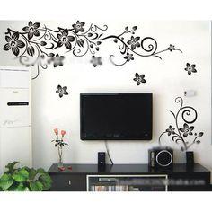 Butterfly Flower Rattan Vinyl Art Wall Sticker Decal Mural Home Wall DIY Decor $2.55