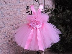 Tutu Dress, TINY PRINCESS PINK, Bit of Fluff, for Babies 3-24 Months | ElsaSieron - Clothing on ArtFire