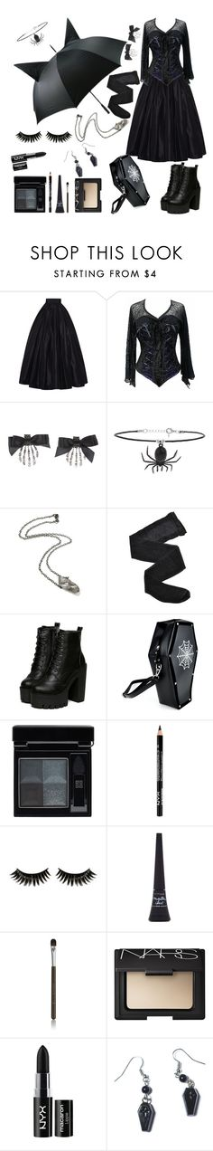 """Cold Rainy Day"" by june-batty ❤ liked on Polyvore featuring Naeem Khan, Topshop, Fogal, Givenchy, Boohoo, Maybelline, Becca, NARS Cosmetics, NYX and Sourpuss"