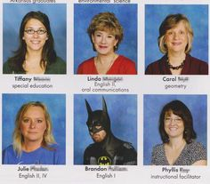 This English teacher who loves all things literary, even graphic novels. | 22 Teachers Who Know How To Take A Yearbook Photo