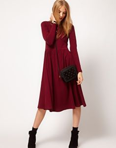 ASOS Midi Dress With Long Sleeve. Wow. It's even on sale.