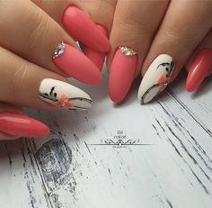 39 Pretty Nail Art Designs To Inspire You - Page 38 of 39 - TipSilo Glam Nails, Fancy Nails, Cute Nails, Acrylic Nail Designs, Nail Art Designs, Acrylic Nails, Pretty Nail Art, Beautiful Nail Art, Pink Nail Art