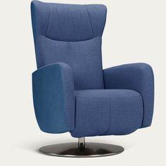 Relaxstoel Sorisso blauw schuinaanzicht voor