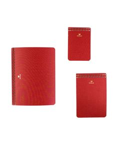 Postalco Red Notebook Set