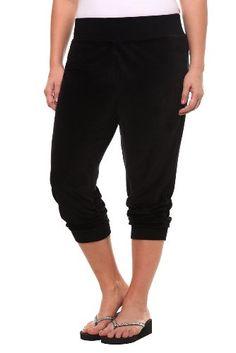 Torrid Plus Size Black Ruched Leg Velour Pants $26.98