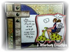 J. ATTERBURY CREATIONS: Scripture Series: Way Truth Life Card---Join Us for Anything Goes/Inspirational Challenge at Word Art Wednesday!