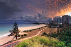 Dawn over Coolangatta Beach - Coolangatta, QLD