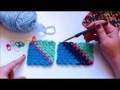 C2C Moss Stitch video.
