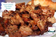 Peach Glazed Pork Roast Recipe #recipe #slowcooker #Crockpot #peach