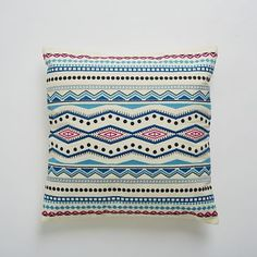 Embroidered Mar Pillow Cover #westelm