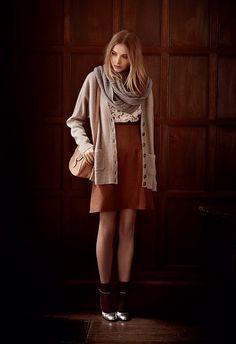 Club Monaco fall lookbook-love the cardigan and skirt