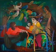 Midnight to the Boom: Painting in India after Independence, From the Peabody Essex Museum's Herwitz Collection « Exhibits India After Independence, Romare Bearden, Modern India, Crazy Day, India Art, Indian Artist, Art Google, New Art, Framed Art
