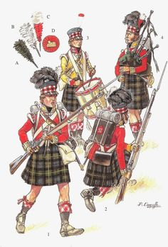 British; 92nd Regiment of Foot, c.1815 by P.Courcelle