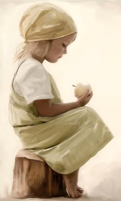 Contemplating the beauty of a pear...