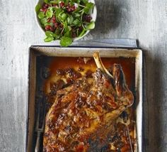 Slow-roast Persian lamb with pomegranate salad
