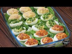 Jajka nadziewane na 3 sposoby w 5 minut - YouTube Frittata, Salmon Burgers, The Creator, Food And Drink, Cooking Recipes, Vegetables, Ethnic Recipes, Impreza, Youtube