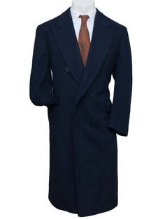 Saks Fifth Avenue Pure Cashmere Trench Over Coat Double Breasted Mens XL 48 Long #SaksFifthAvenue #Trench