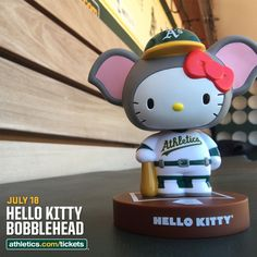 Doesn't steal bases. Hearts are another story. 15,000 fans get a Hello Kitty Bobblehead on July 18!