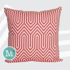 Got it! Coral & White Geometric Trails Sofa pillow