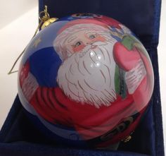 2003 Li Bien Pier 1 Imports Christmas Ornament Glass Hand Painted Santa Claus #Pier1Imports