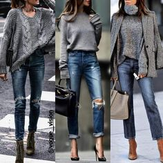 Pinned onto 2018 winter outfits Board in 2018 winter outfits Category Cute Outfits With Jeans, Outfit Jeans, Jean Outfits, Mode Outfits, Stylish Outfits, Fashion Outfits, Womens Fashion, Casual Winter Outfits, Fall Outfits
