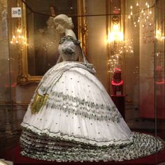 Recreation of Empress Elisabeth's wedding eve gown. From the sissi museum in Hungary.