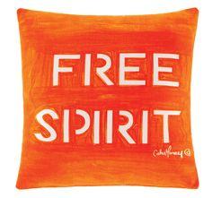 Cathie Maney Free Spirit 40x40cm Filled Cushion Orange