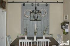 Barn Door Window Treatment