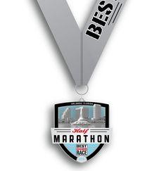 Orlando - Half Marathon Medal Running Medals, Half Marathons, Marathon Running, Orlando, Safari, Florida, Bling, Goals, Sport