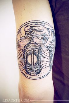 Love the lantern! Beautiful use of negative space and detailing. (Linework Etching Engraving Tattoo by Lisa Orth)