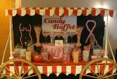 Breast Cancer Awareness Candy Cart