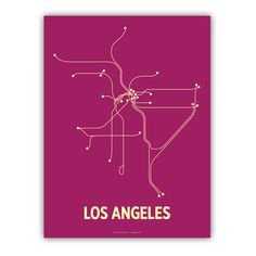 Oh, so if I just follow this map (the Metro, I assume) I'll find my way around LA? Sure, no prob.