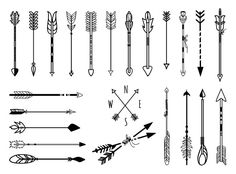 Hand drawn arrows set by Microvector on Creative Market