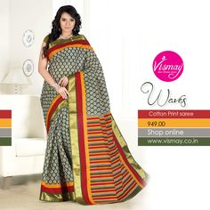 Vismay Cotton Print Saree Collections http://www.vismay.co.in/ShopDetail.aspx?SID=6729&utm_source=Facebook&utm_medium=FBWC&utm_campaign=ImpressAds