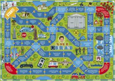 UBER Board Game Illustration for Fast Company by Rod Hunt, via Behance