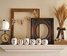 Fall and Thanksgiving mantel...gorgeous!