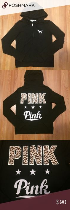 Vs pink hoodie 💕 Pink full zip hoodie sweatshirt up for trade only NOT FOR SALE!!!!!!!💕 PINK Victoria's Secret Tops Sweatshirts & Hoodies
