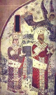 ფრესკაზე გამოსახული მეფეები არიან :