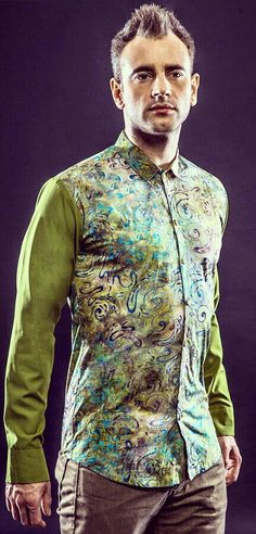 Mavazi summer menswear - contemporer paintbrush Batik