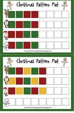 Christmas Pattern Mats (Freebie!) from Criss-Cross Applesauce